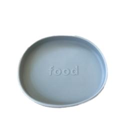 Siliconen bord poederblauw - Jut & Julie
