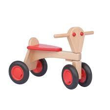 Houten loopfietsje - rood