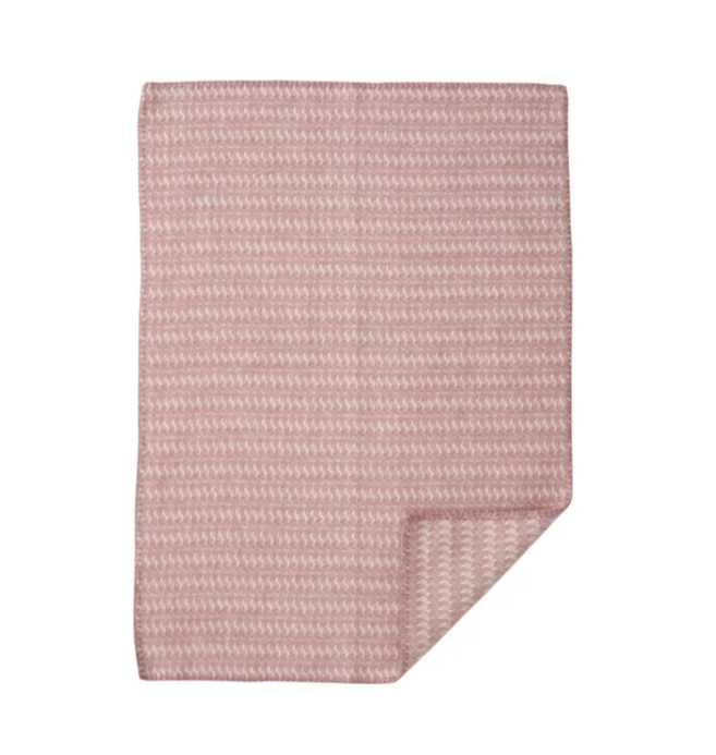 *Wiegdeken wol Sumba roze - Klippan*