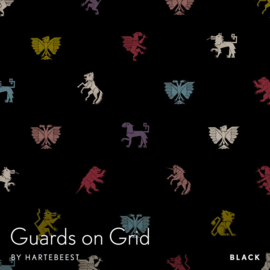 Guards on Grid - Black