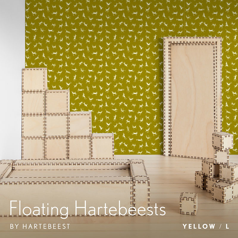 Floating Hartebeests - Yellow