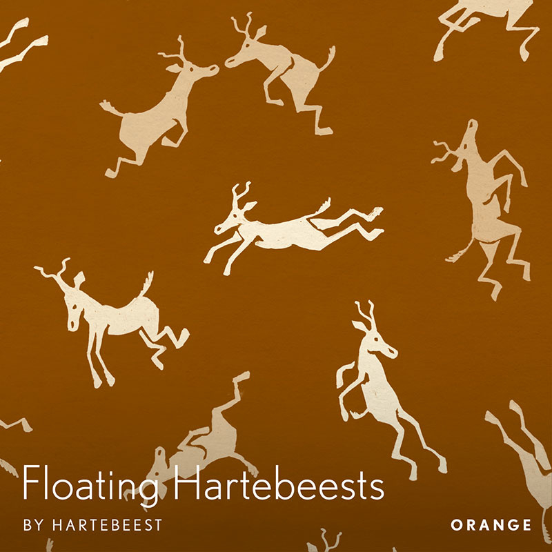 Floating Hartebeests - Orange