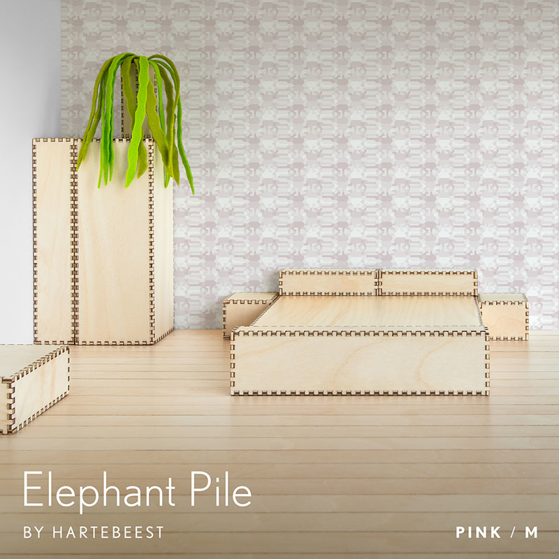 Elephant Pile - Pink