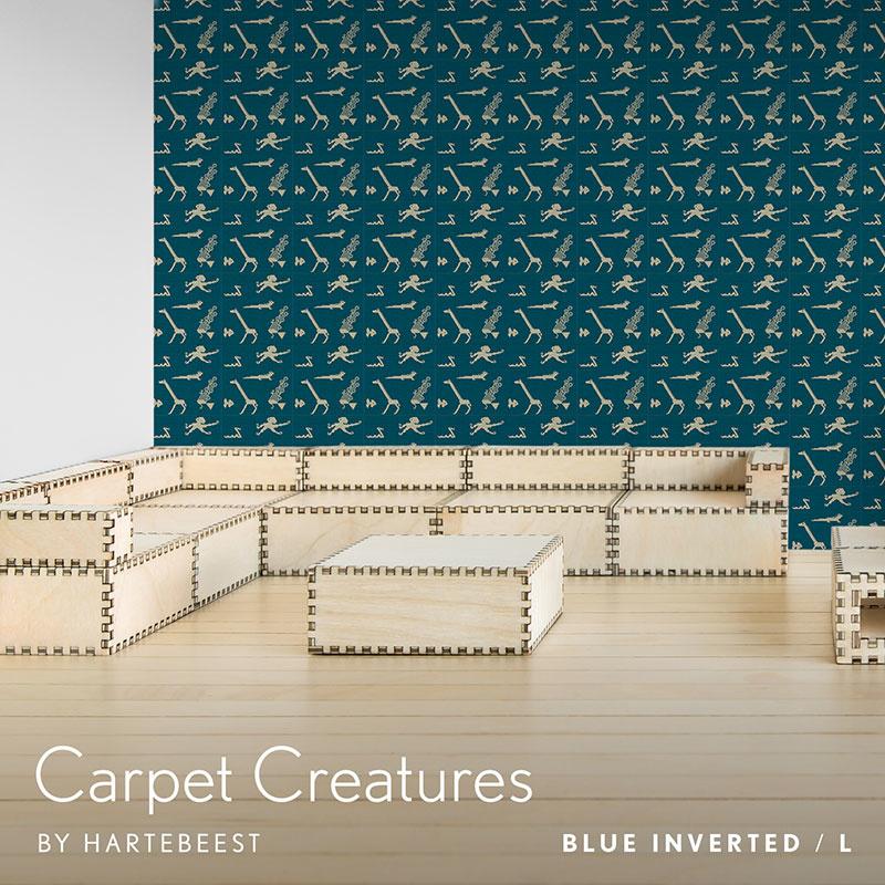Carpet Creatures - Blue Inverted
