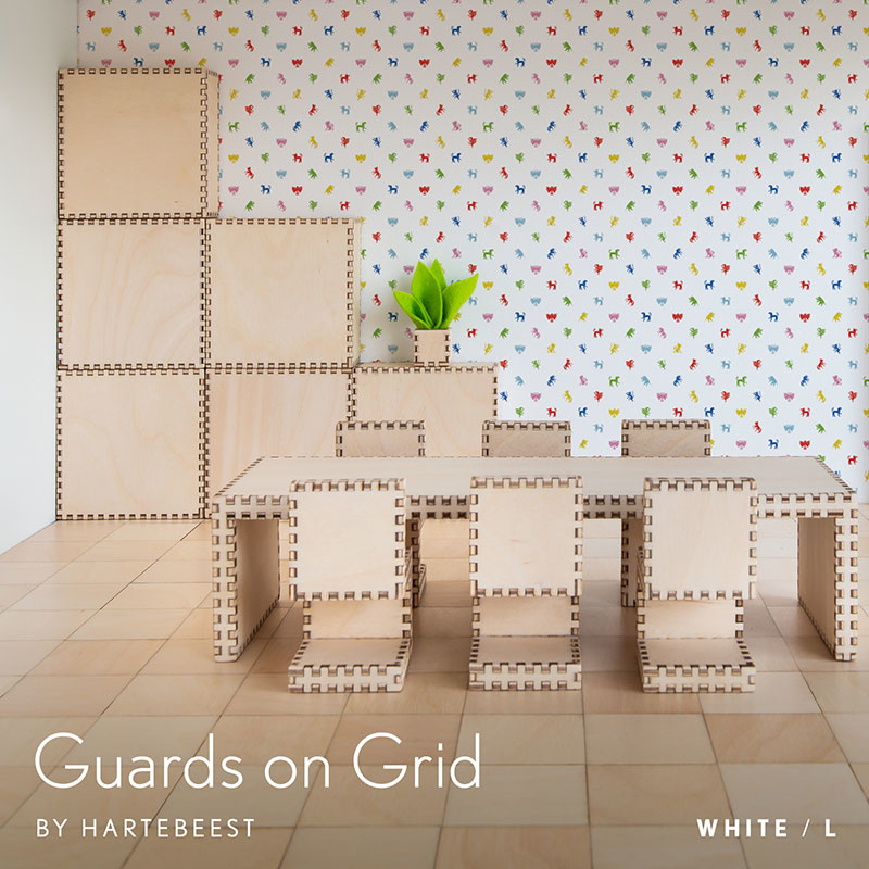 Guards on Grid - White