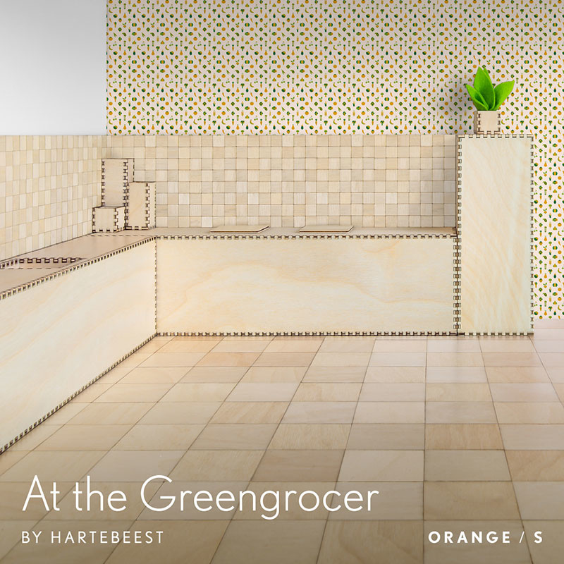 At the Greengrocer - Orange