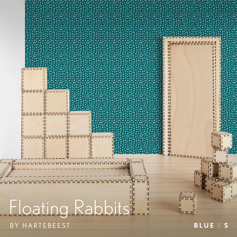 Floating Rabbits - Blue