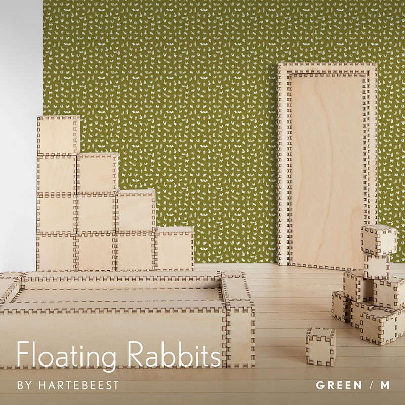 Floating Rabbits - Green