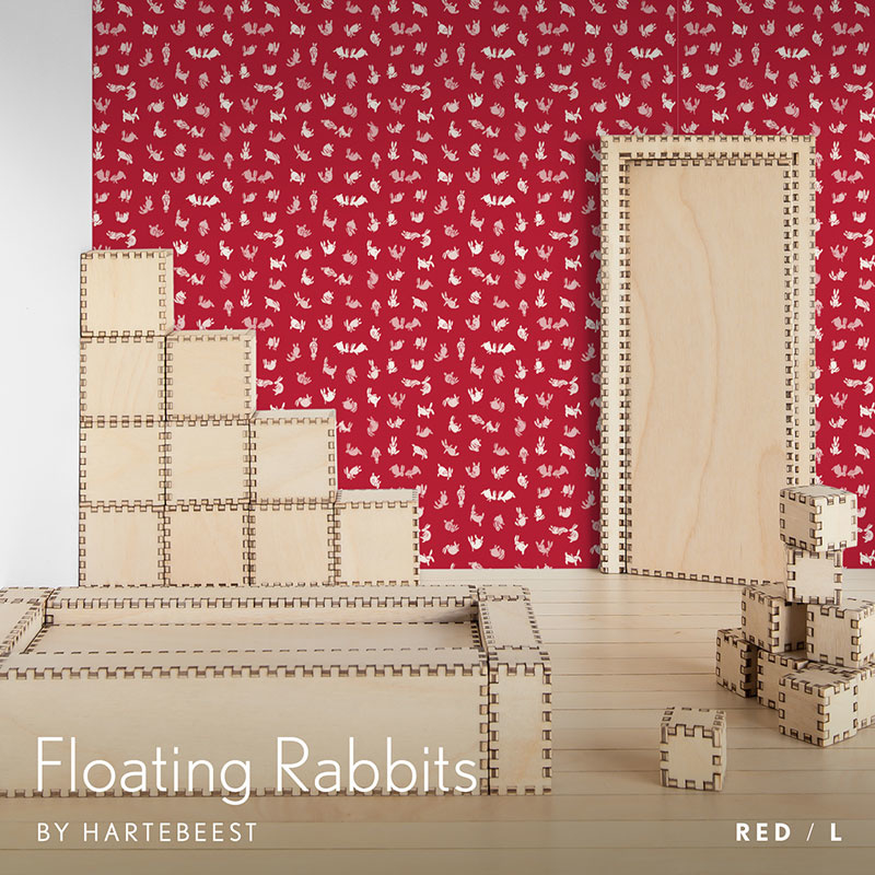 Floating Rabbits - Red