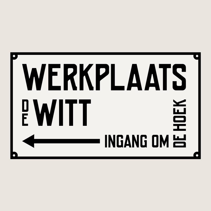 Belettering Werkplaats de Witt