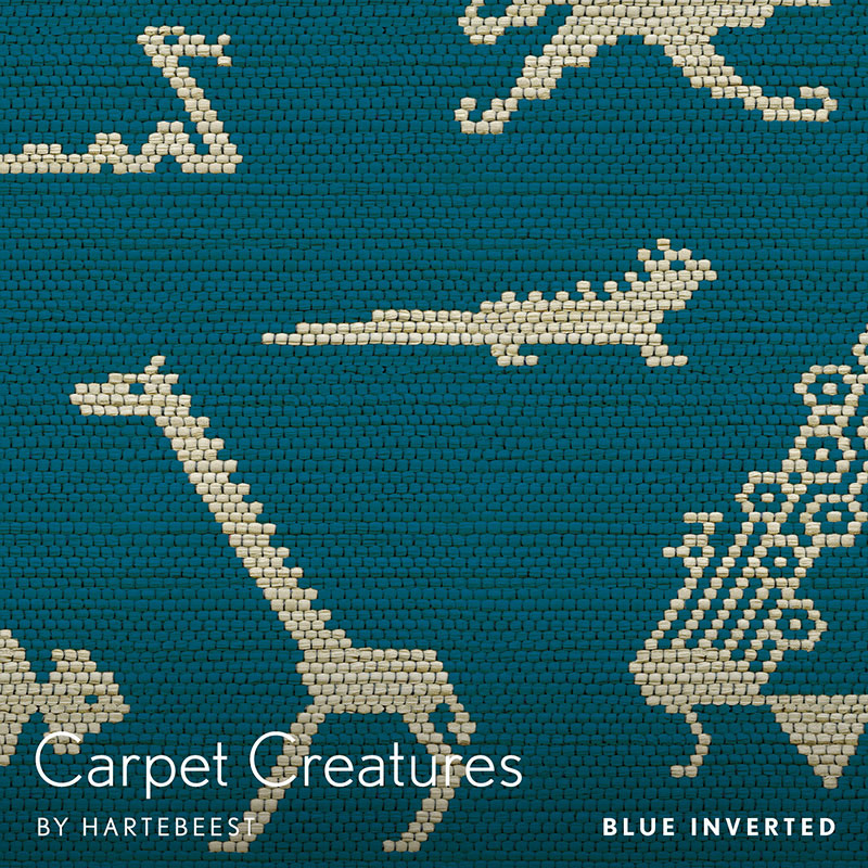 Carpet Creatures - Blue Inverted
