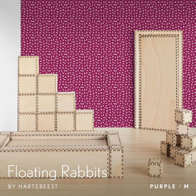 Floating Rabbits - Purple