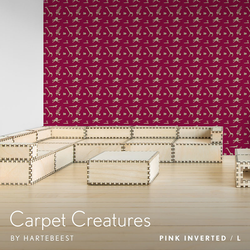 Carpet Creatures - Pink Inverted
