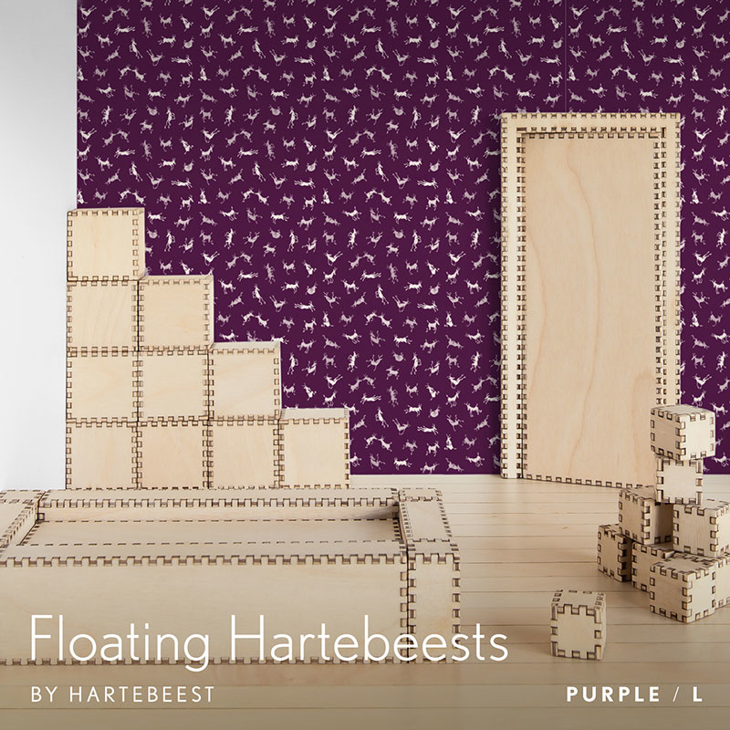 Floating Hartebeests - Purple