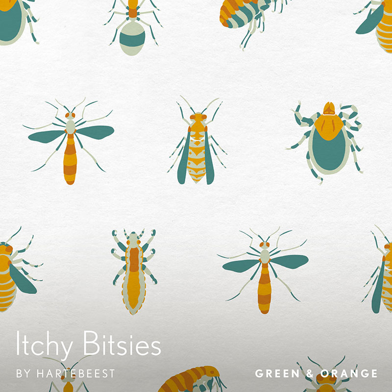 Itchy Bitsies - Green & Orange