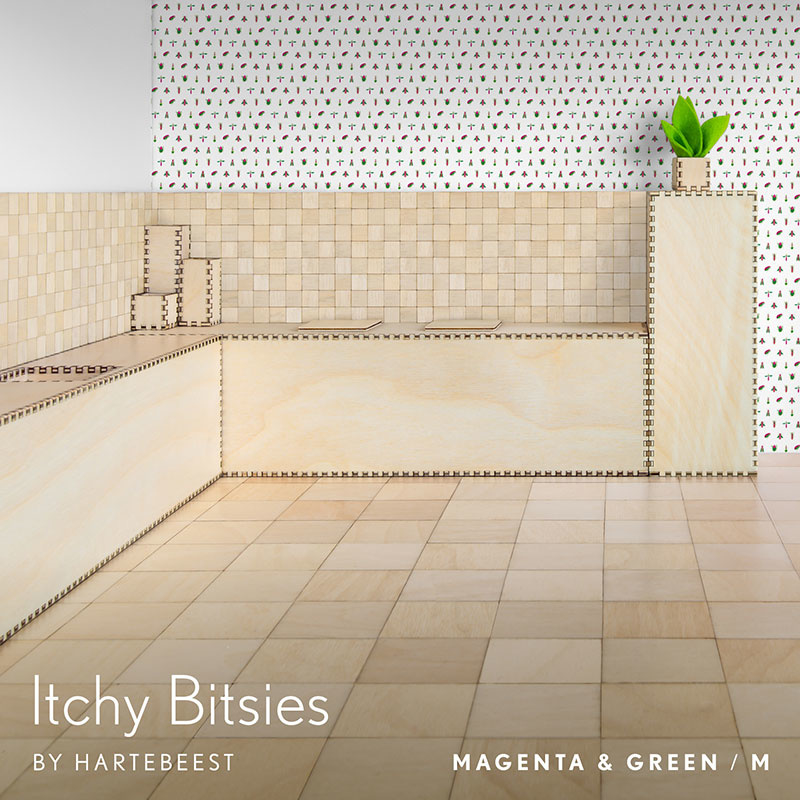 Itchy Bitsies - Magenta & Green
