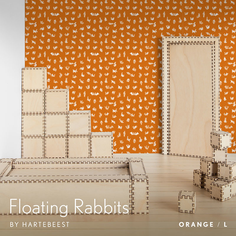 Floating Rabbits - Orange
