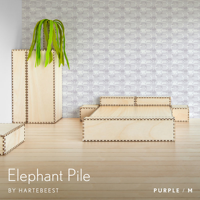 Elephant Pile - Purple