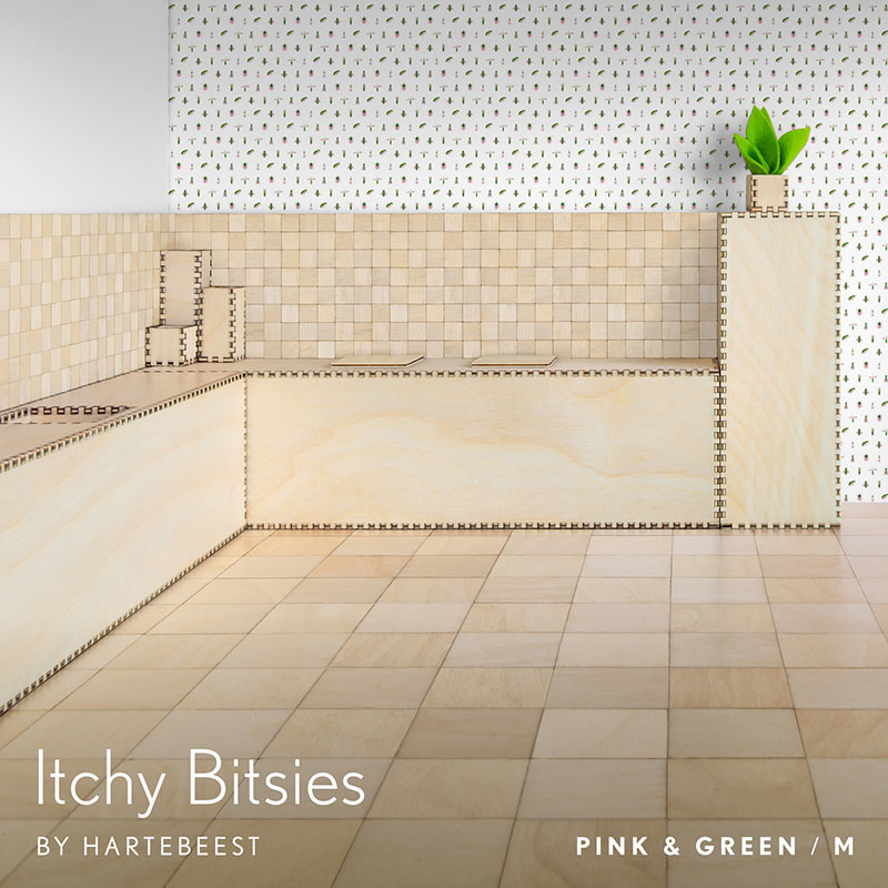 Itchy Bitsies - Pink & Green