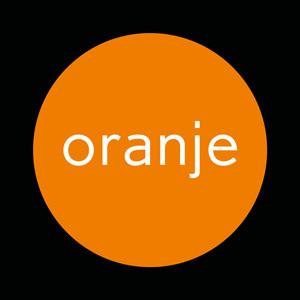 Bekijk oranje behang van Hartebeest
