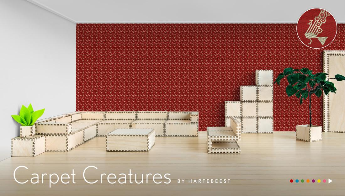 Carpet Creatures - behang met geweven dieren