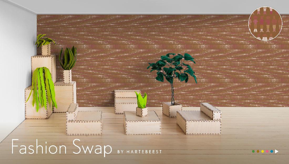 Fashion Swap: behang met mode