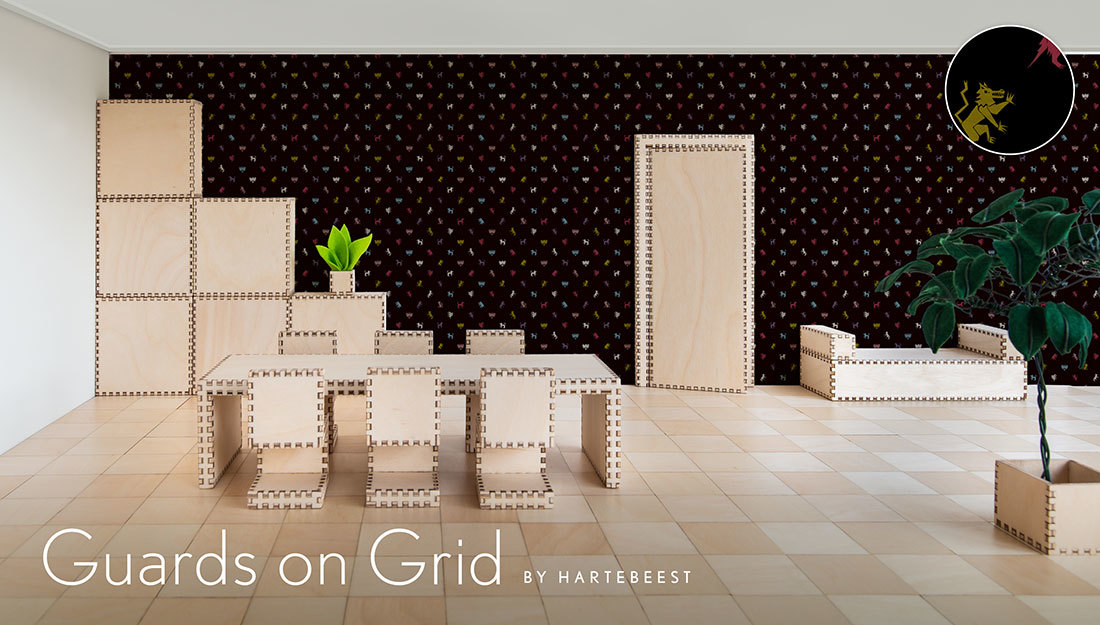 Guards on Grid - Black L
