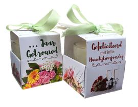 Wenskaarsje Huwelijksverjaardag
