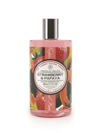 Strawberry & Papaya Bad en Showergel Tropical Fruits