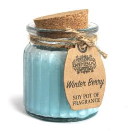Geurkaars pot Winter Berry