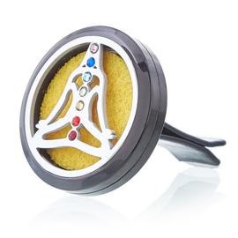 Auto Luchtverfrisser Pewter Yoga Chakra - 30 mm