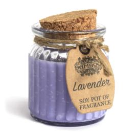 Geurkaars pot Lavender