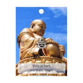 Boeddha Pin Volg je hart, want dat klopt