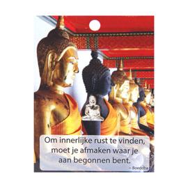Boeddha Pin Om innerlijke rust te vinden.....