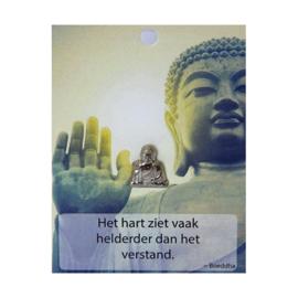 Boeddha Pin Het hart ziet vaak....