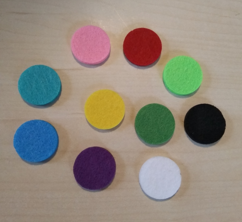 Pads voor Geur Medaillons 22 mm (set van 10 stuks)