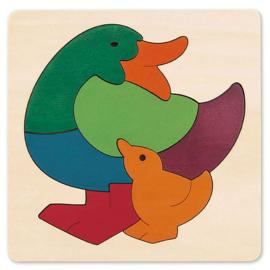 Gekleurde eend puzzel