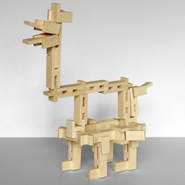 Luco constructie blokken effen 65 stuks