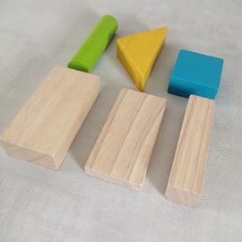 PlanToys houten blokken gekleurd 40 stuks