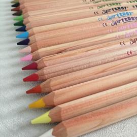 18 Kleurpotloden Super Ferby natuur