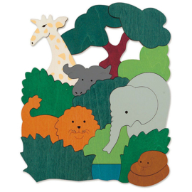 Afrikaanse dieren puzzel