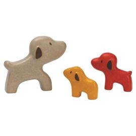 Honden familie puzzel