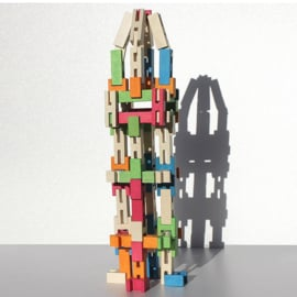 Luco constructie blokken gekleurd 65 stuks