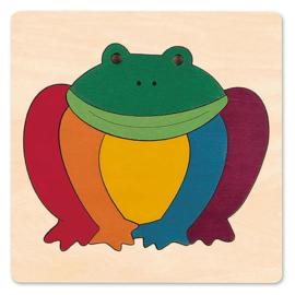 Gekleurde kikker puzzel