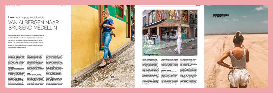 twentelife magazine tukker abroad artikel interview the monkey club lotte boerrigter willem plaizier colombia verhuisd wonen medellín el poblado