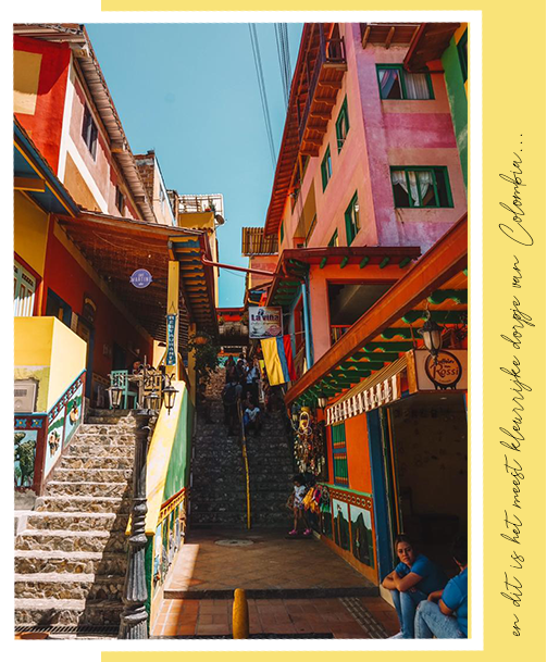 en dit is het meest kleurrijke dorpje van Colombia... Guatapé