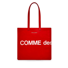 CDG: Huge Logo Tote Bag Red