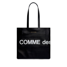 CDG: Huge Logo Tote Bag Black