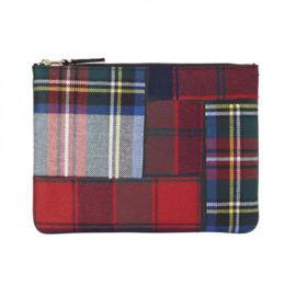 CDG Wallet Tartan Patchwork Red SA5100TP