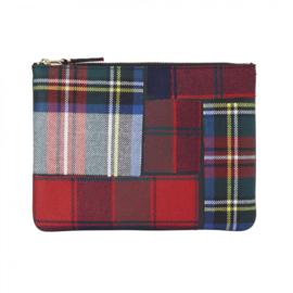 CDG Wallet Tartan Patchwork Red SA5100TP